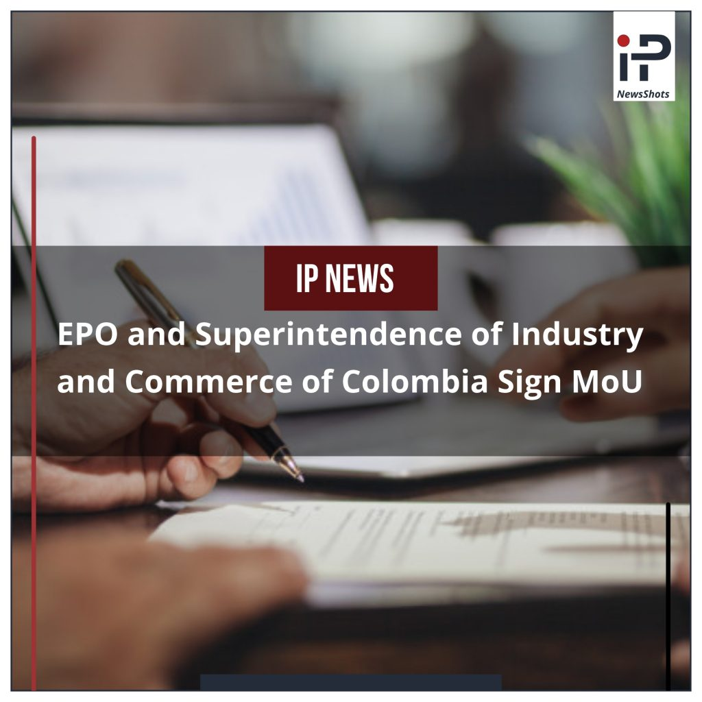 EPO and Superintendence of Industry and Commerce of Colombia Sign MoU