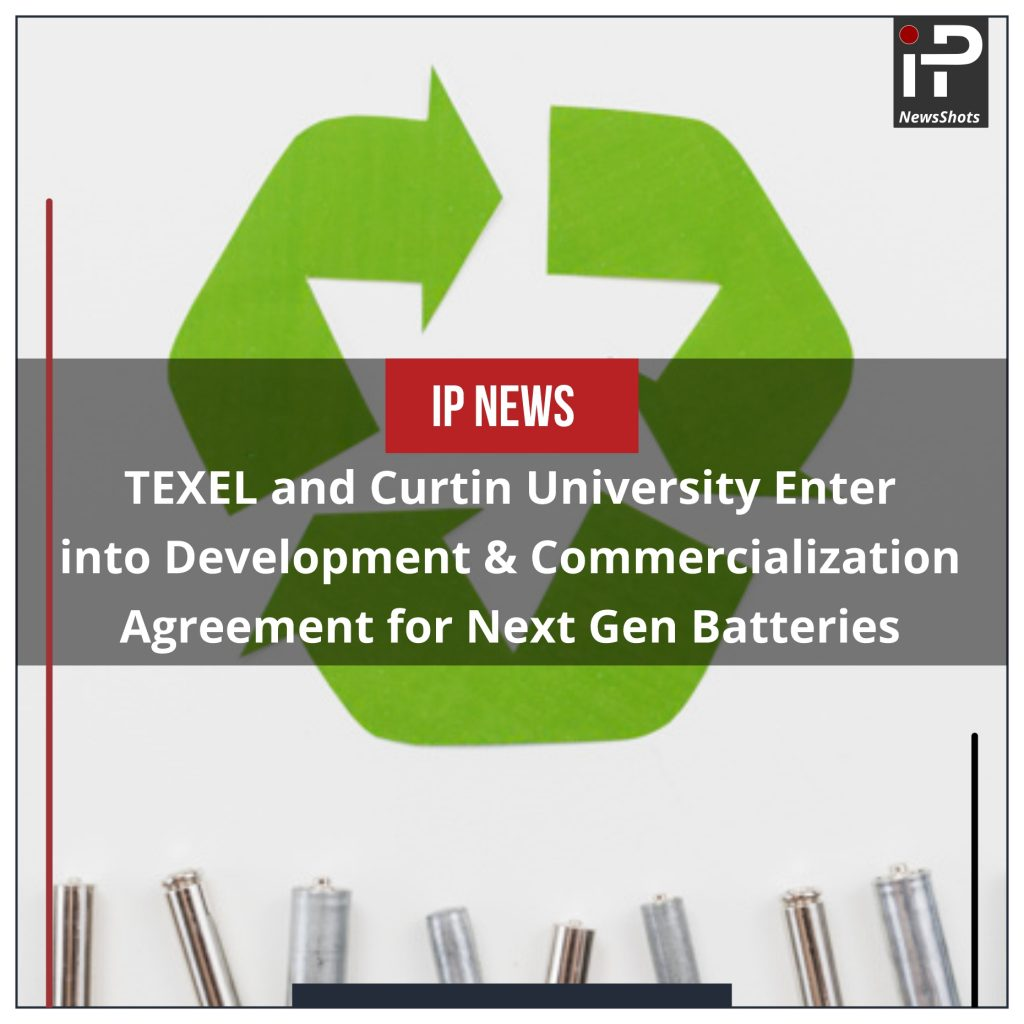 TEXEL and Curtin University Enter into Development & Commercialization Agreement for Next Gen Batteries