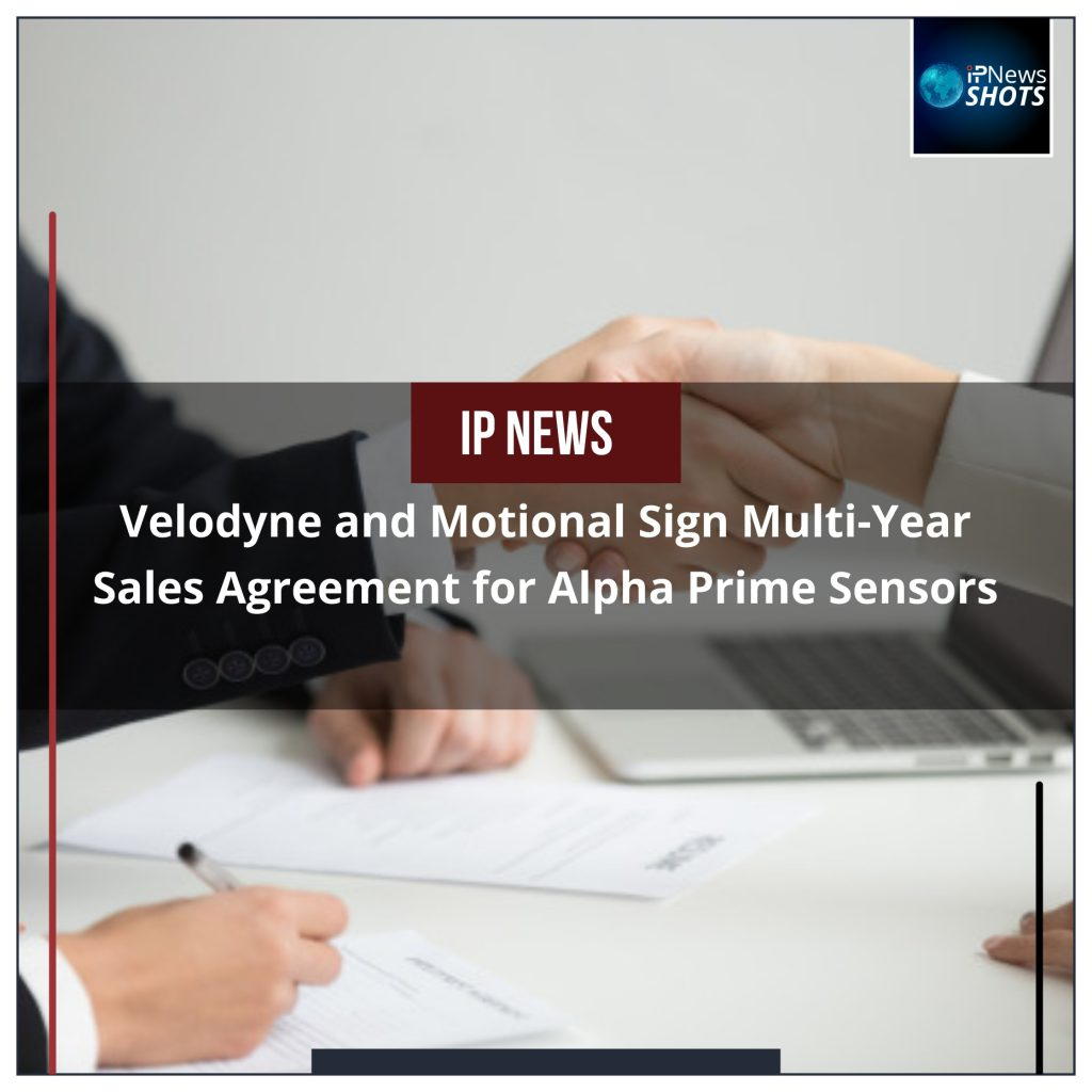 Velodyne and Motional Sign Multi-Year Sales Agreement for Alpha Prime Sensors