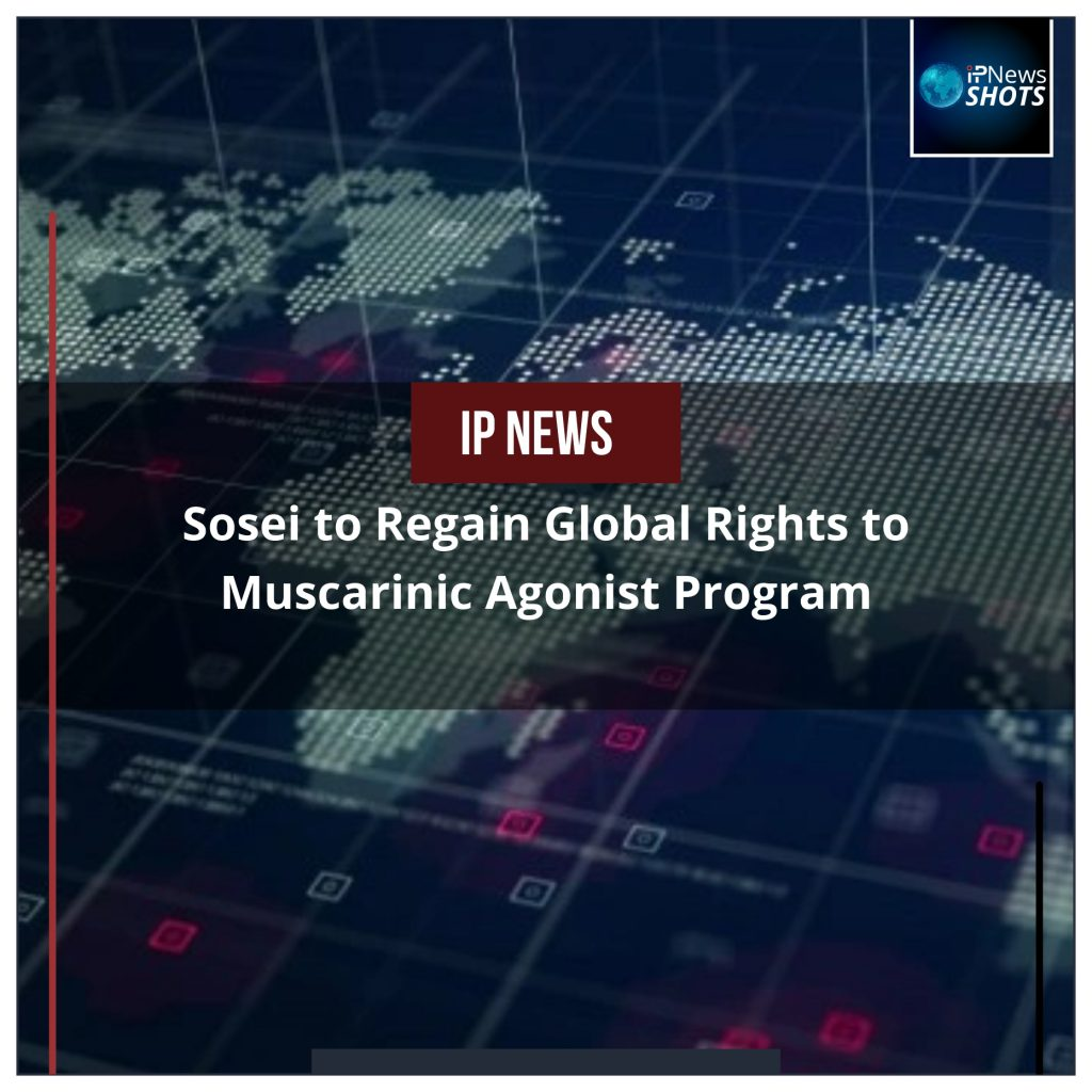 Sosei to Regain Global Rights to Muscarinic Agonist Program