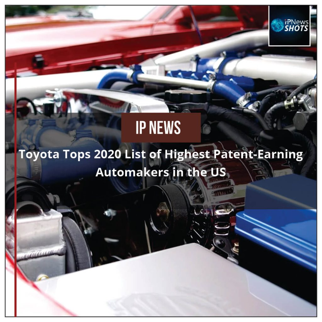 Toyota Tops 2020 List of Highest Patent-Earning Automakers in the US