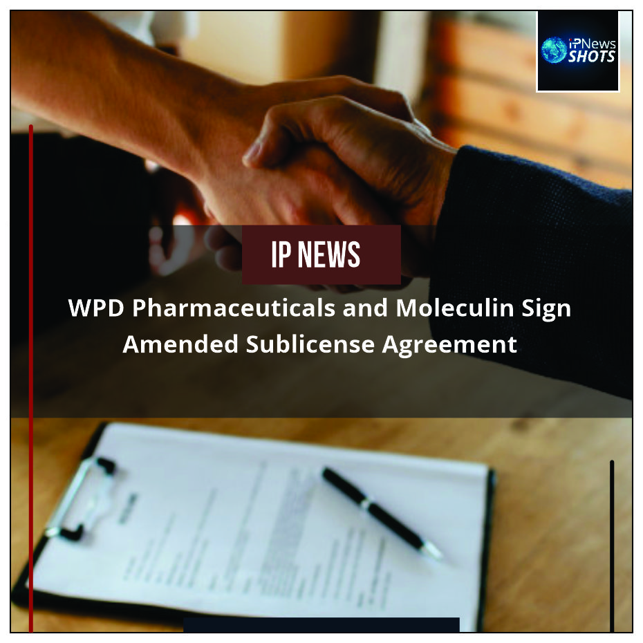 WPD Pharmaceuticals and Moleculin Sign Amended Sublicense Agreement