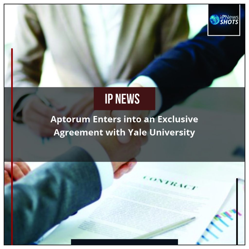 Aptorum Enters into an Exclusive Agreement with Yale University