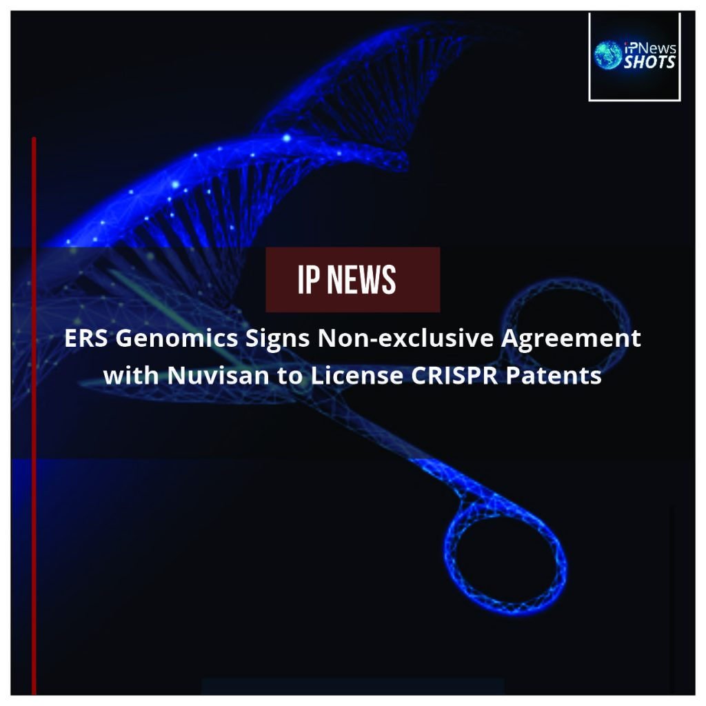 ERS Genomics Signs Non-exclusive Agreement with Nuvisan to License CRISPR Patents