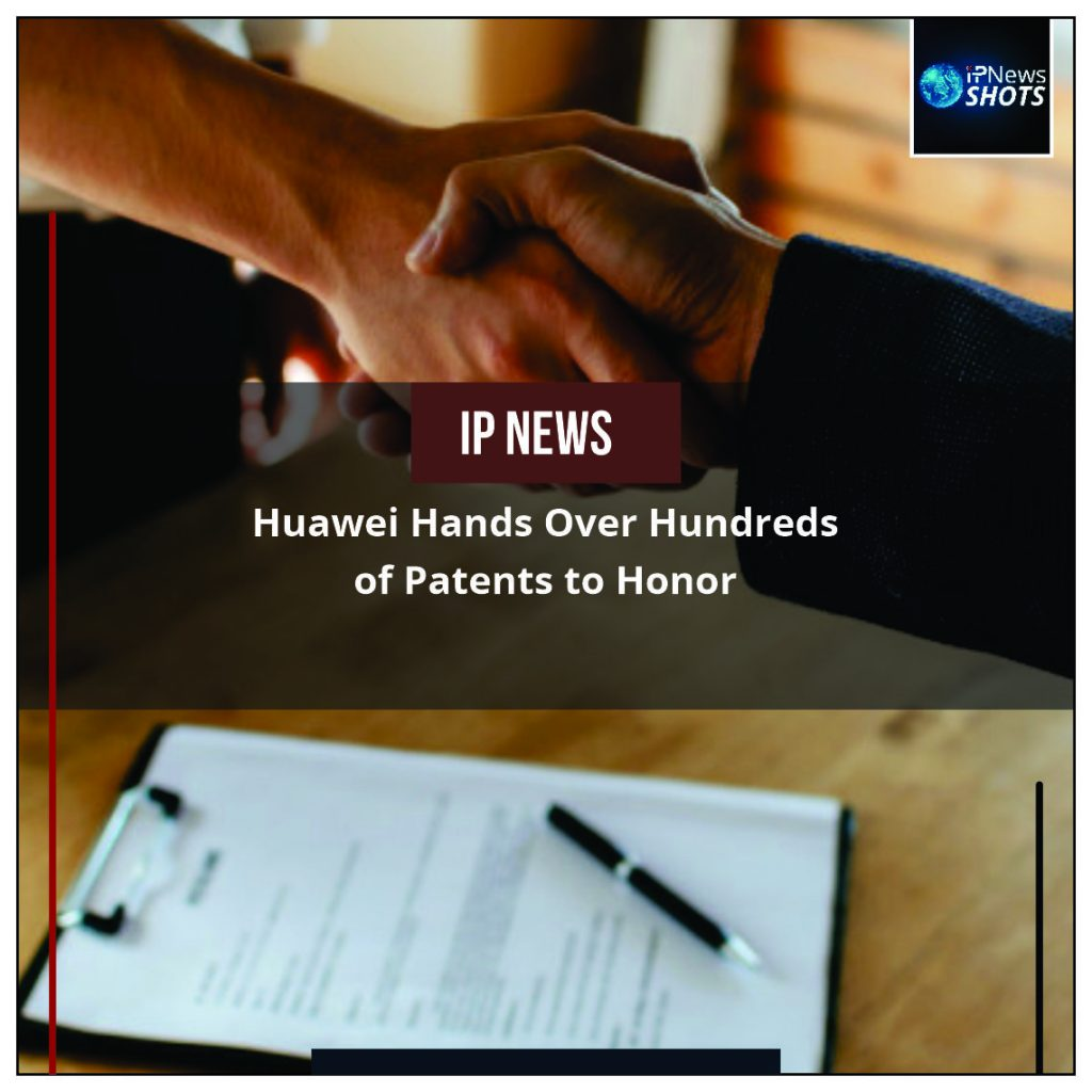 Huawei Hands Over Hundreds of Patents to Honor