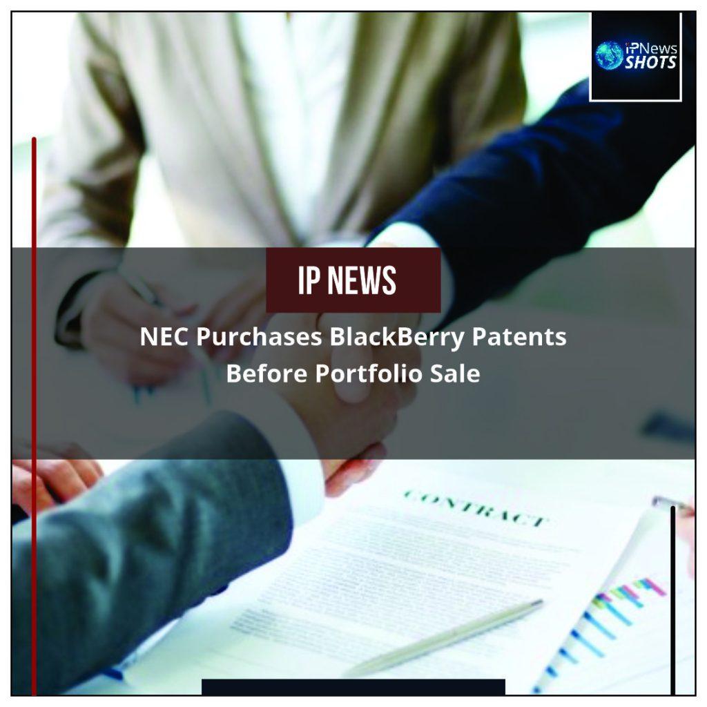 NEC Purchases BlackBerry Patents Before Portfolio Sale