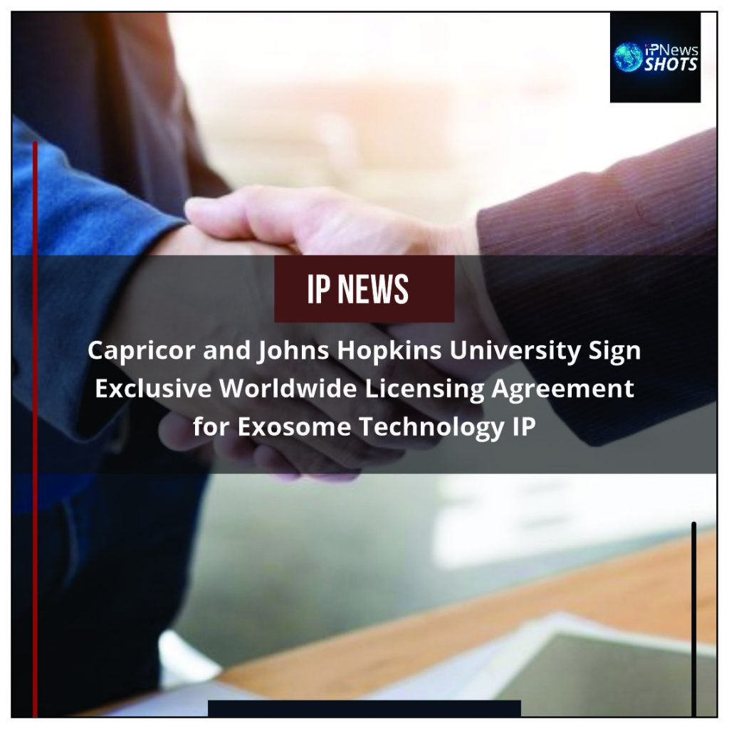 Capricor and Johns Hopkins University Sign Exclusive Worldwide Licensing Agreement for Exosome Technology IP