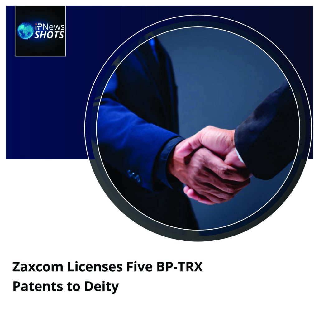 Zaxcom Licenses Five BP-TRX Patents to Deity